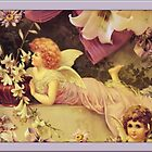 Vintage Angel Card-Angel with Lilies by Yesteryears