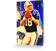 sports  peyton manning art Greeting Card