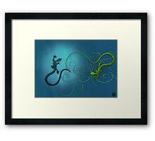 gecko duality Framed Print