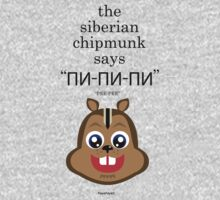 "The Siberian Chipmunk says ""Пи-пи-пи"" ""PEE-PEE"" by FayeFaye"