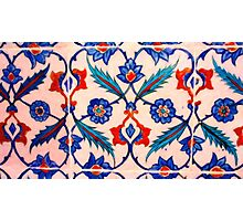 turkish tiles 4 art Photographic Print