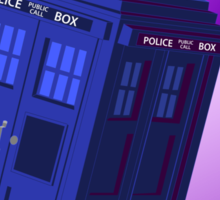 The TARDIS, Anywhere, Anytime TRAVEL POSTER Sticker