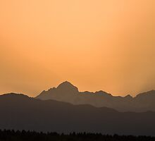 Sunset behind the Julian Alps by Ian Middleton