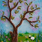 Spring Wishes from a Mixed Media Original by Julie Merrett