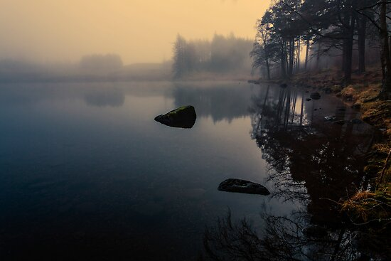 Foggy Blea Tarn by David Lewins