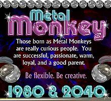 Chinese Zodiac,metal monkey ,born 1980, 2040, Valxart.com by Valxart