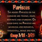 """The Pisces/Aries Cusp sometimes referred to as """"Paries"""" is approximately from dates March 16 to March 26 and ruled by both Neptune and Mars with the elements of water and fire.  by Valxart"""