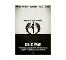 "Movie Poster - ""BLACK SWAN"" Art Print"