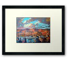 Boats in Santa Barbara Framed Print