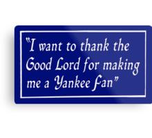 Yankee Fan Metal Print