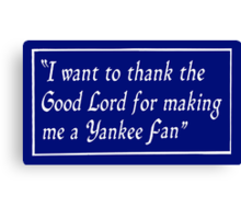 Yankee Fan Canvas Print