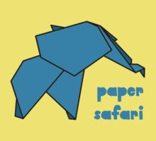 Paper Safari (blue elephant) by bexcaboo