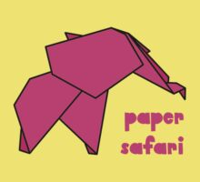 Paper Safari (pink elephant) by bexcaboo