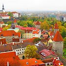 Vivid Tallinn before the Fog by M-EK