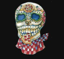 Pizza Sugar Skull by Heather Calderon