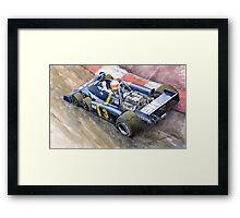 Tyrrell Ford Elf P34 F1 1976 Monaco GP Jody Scheckter Framed Print