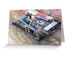 Tyrrell Ford Elf P34 F1 1976 Monaco GP Jody Scheckter Greeting Card