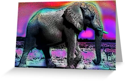 ELEPHANT-2 (POP-ART) by OTIS PORRITT