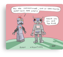 robotic valentine Canvas Print