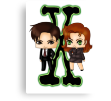 Chibi X Files Canvas Print