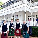 Men in Kilts at Whepstead Manor Open Day by Vanessa Pike-Russell
