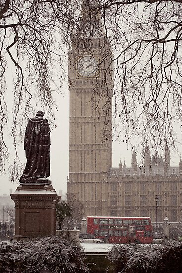 Snowy Big Ben by Chilla Palinkas