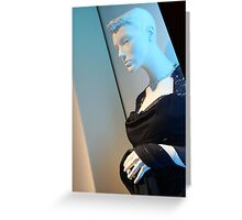 A Mannequin's Blues Greeting Card
