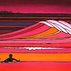 Glide Girl's Sunset Paddle Out by David  Bell