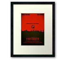 """Movie Poster - """"V for VENDETTA"""" Framed Print"""