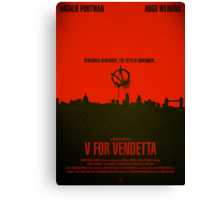 "Movie Poster - ""V for VENDETTA"" Canvas Print"