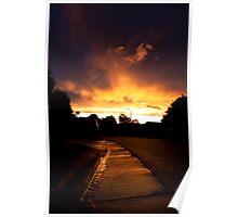 Gutter Sunset Poster