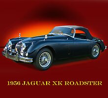 1956 Jaguar XK Roadster w/ID by DaveKoontz