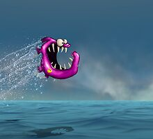 Mad Pink Fish Crazy Jump by astralsid
