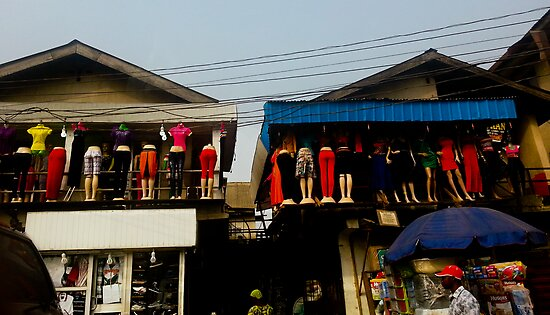 Street Shops Lagos  3 by Warren. A. Williams