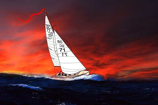St Christopher - My Last Yacht by Dennis Melling