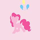 Simple Pinkie Pie iPhone/iPad Case by TehCrimzonColt