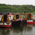 Workingboats moored by elsiebarge