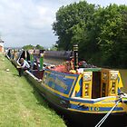 Workingboat waiting at Foxton Locks by elsiebarge