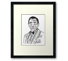 Daniel Craig Filmography Framed Print