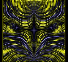 Northern Lights-Aurora Borealis Fractal by Rose Santuci-Sofranko