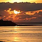 Sunset at Grand Barachois by Rose Landry