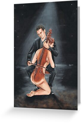 cello player by Alva