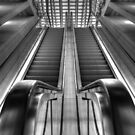 Escalator railwaystation by Peter Wiggerman