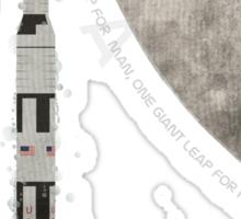 Apollo Rocket Sticker
