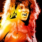 Tina Turner - Queen of Rock and Roll - Pop Art by wcsmack