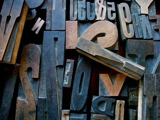 "Typesetting - Letter ""!"" by Mary Ellen Garcia"