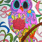 Day of the Dead Owl by tonitiger415