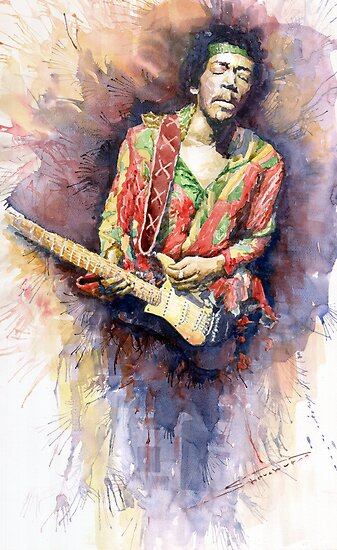 Jimi Hendrix 09 by Yuriy Shevchuk