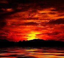 Firey Sunset by George Lenz