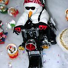 Motorcycle Snowman by Henrik Lehnerer